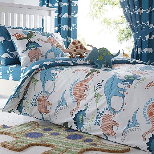 Merryfeel 100% cotton dinosaur print Duvet Cover Set for