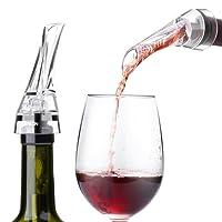 Aeratore per Vino, FLOUREON Olecranon Decantatore per Vino, Versatore con Beccuccio per Ventilazione di Vino, Decantare Vino con Eleganza e Semplicità, Accessorio di Vino per Escursionismo, Campeggi e Feste