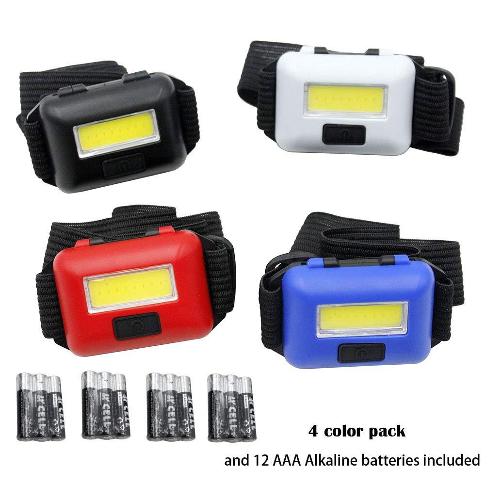 HENGQING cob 4 pack 3 AAA alkaline Battery 3 modeOutdoor mini headlights portable emergency lights HENG QING