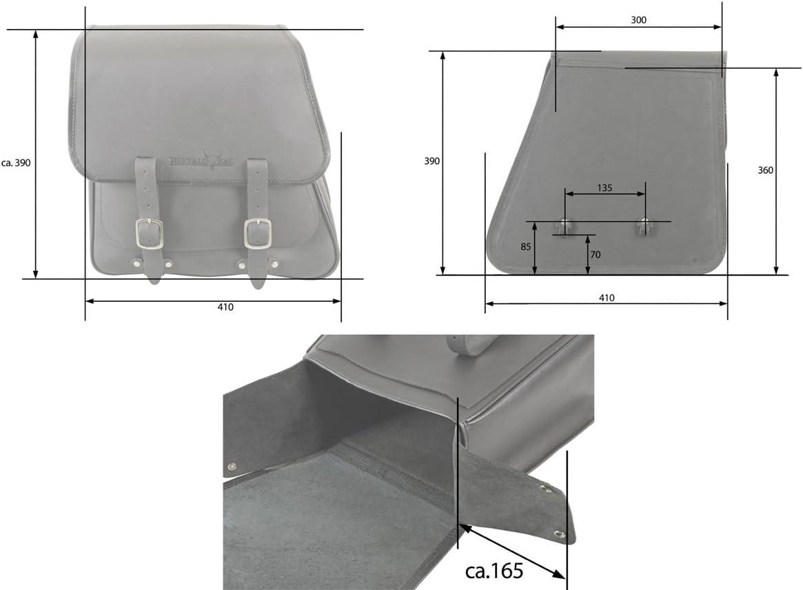 ~ ohne Halterung BUFFALO BAG SatteltascheBoston 28 Liter passend f/ür die linke Seite