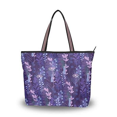 828b223086f Amazon.com  Brighter Amazing Wisteria Flowers Pattern Women s Tote ...