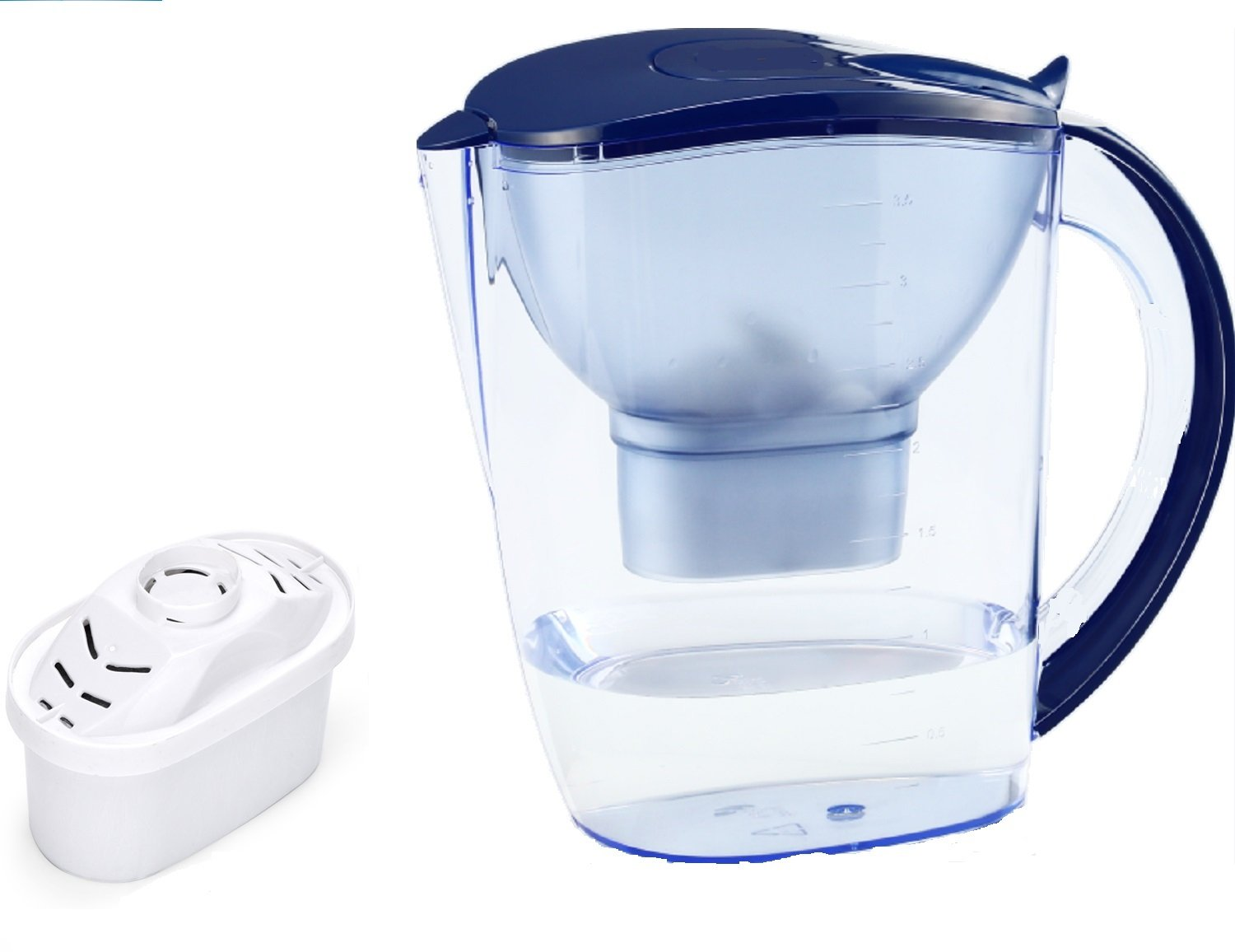 EHM ULTRA Premium Alkaline Water Pitcher - 3.5L Pure Healthy Water Ionizer With Activated Carbon Filter - Healthy, Clean & Toxin-Free Mineralized Alkaline Water In Minutes - PH 8.5 - 9.5 - 2018 by EHM (Image #3)