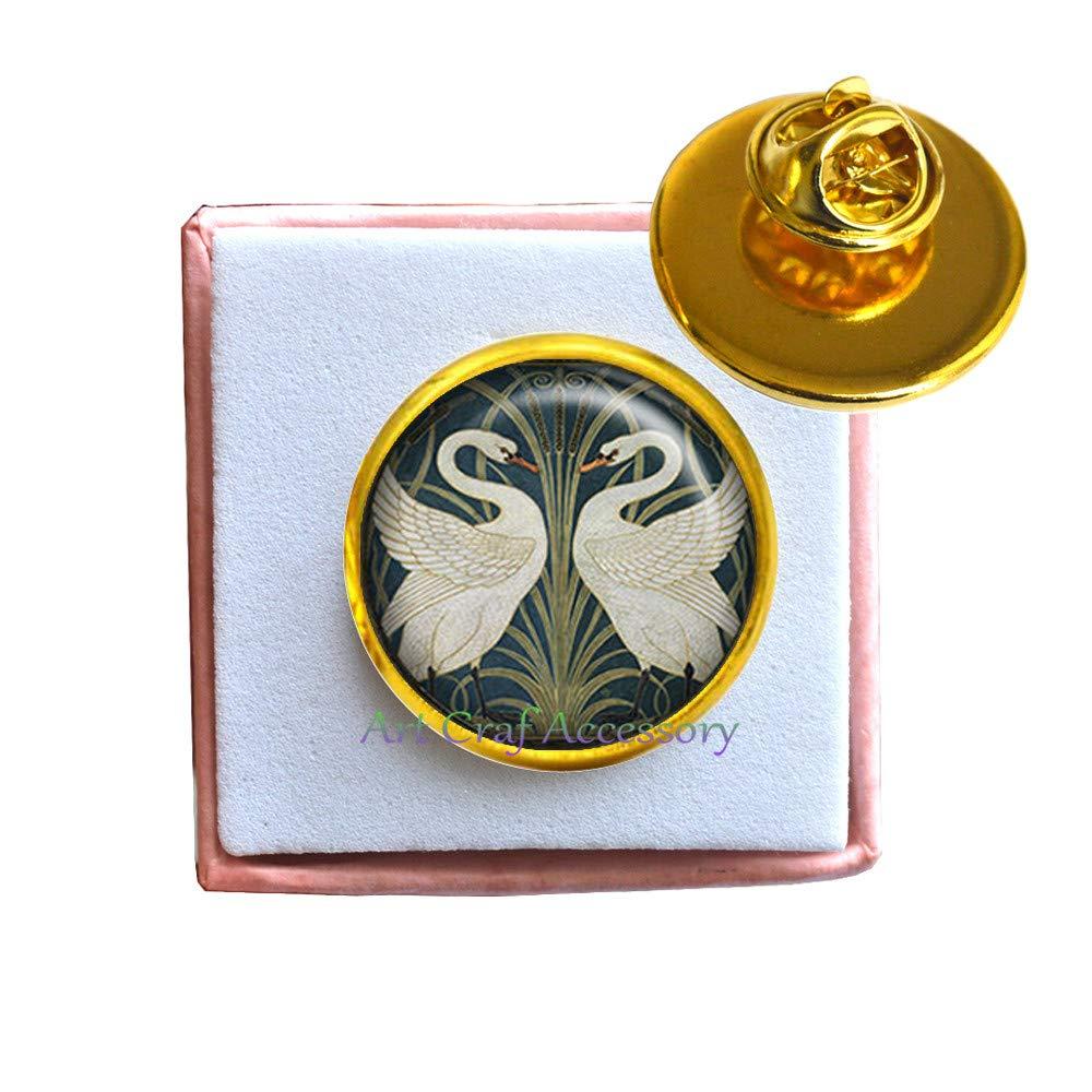 Swan Brooch swan Brooch Bridal Brooch Romantic Valentines Gift Walter Crane Art Brooch,RN419 swan Jewelry