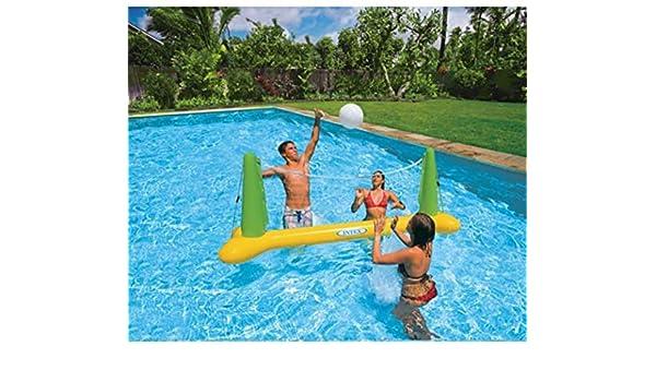 Intex Piscina voleibol juego Aqua Fun hinchable flotante objetivo ...