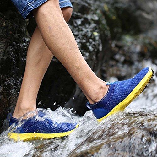 Air Lightweight Men Running Women Pretty Shoes Shoes Walking Blue Slip on for Aqua Mesh Water Dry Gear Quick Wonder Ttwpq