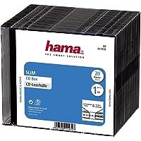 Hama 00011432 Carcasa para Discos ópticos (20 Unidades), Color Negro