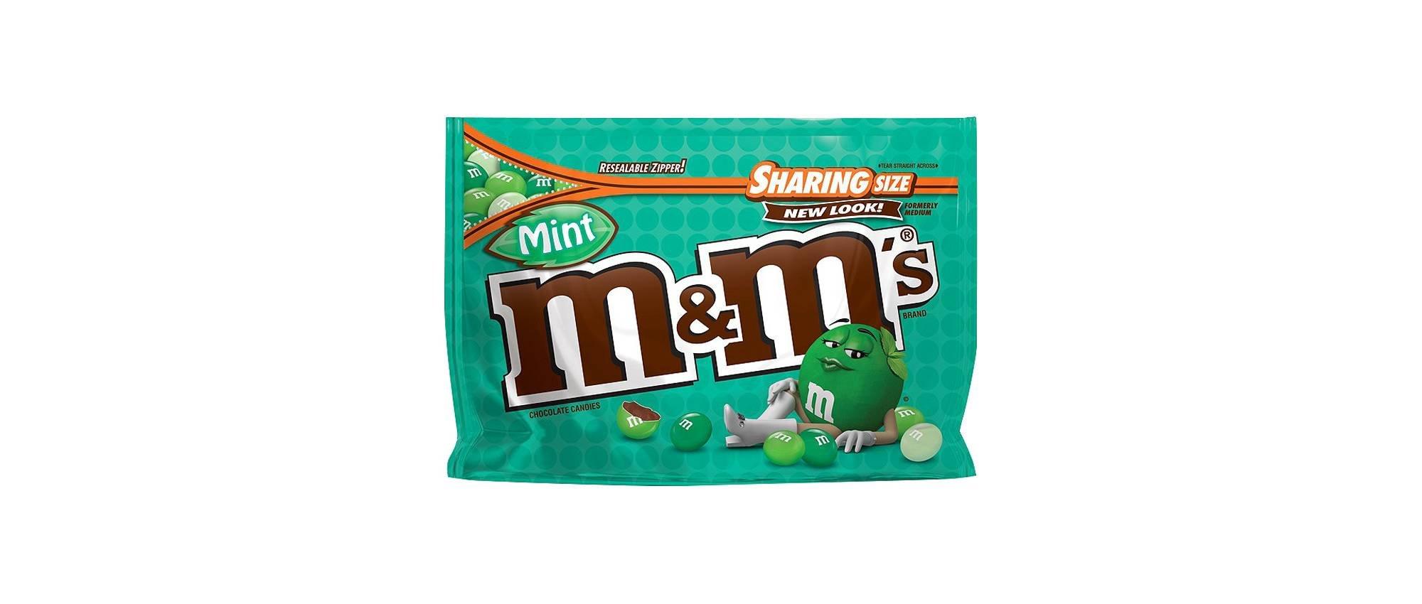 M&M'S Mint Dark Chocolate Candies, 9.6 oz (2 Bags)