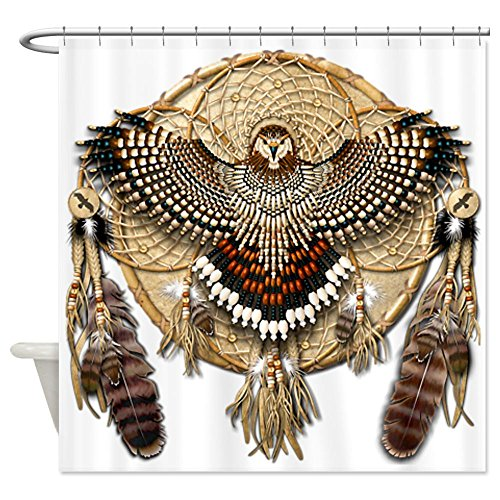 CafePress - Red-Tail Hawk Dreamcatcher Shower Curtain - Decorative Fabric Shower Curtain (Red Tail Hawk Feathers compare prices)