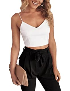 1f5d3567e2e3 YUANMO Two Piece Outfits for Women Sexy Halter Crop top with Trouser with Belt  2 pcs