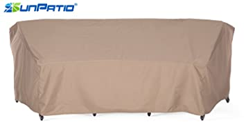 SunPatio Outdoor Curved Sectional Sofa Cover, Lightweight, Water Resistant,  Eco Friendly,