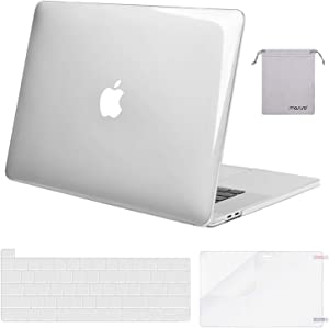 MOSISO MacBook Pro 16 inch Case 2019 Release A2141 with Touch Bar & Touch ID, Plastic Hard Shell Case & Keyboard Cover & Screen Protector & Storage Bag Compatible with MacBook Pro 16, Crystal Clear