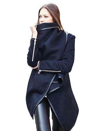 Kurzer mantel dunkelblau