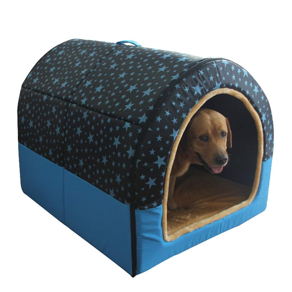 B GYR28656 Soft and comfortable Detachable pet house Cat's home double use nest four seasons universal Pet cat dog cave 3 styles (color   A)