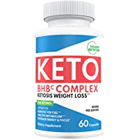 New Keto Ultra Diet Pills - Advanced Weight Loss Supplement Pure BHB Exogenous Ketones Salts to Kickstart Ketosis Burning Fat Boost Energy and Focus - for Men and Women - 60 Capsules 800mg Plus Ebook