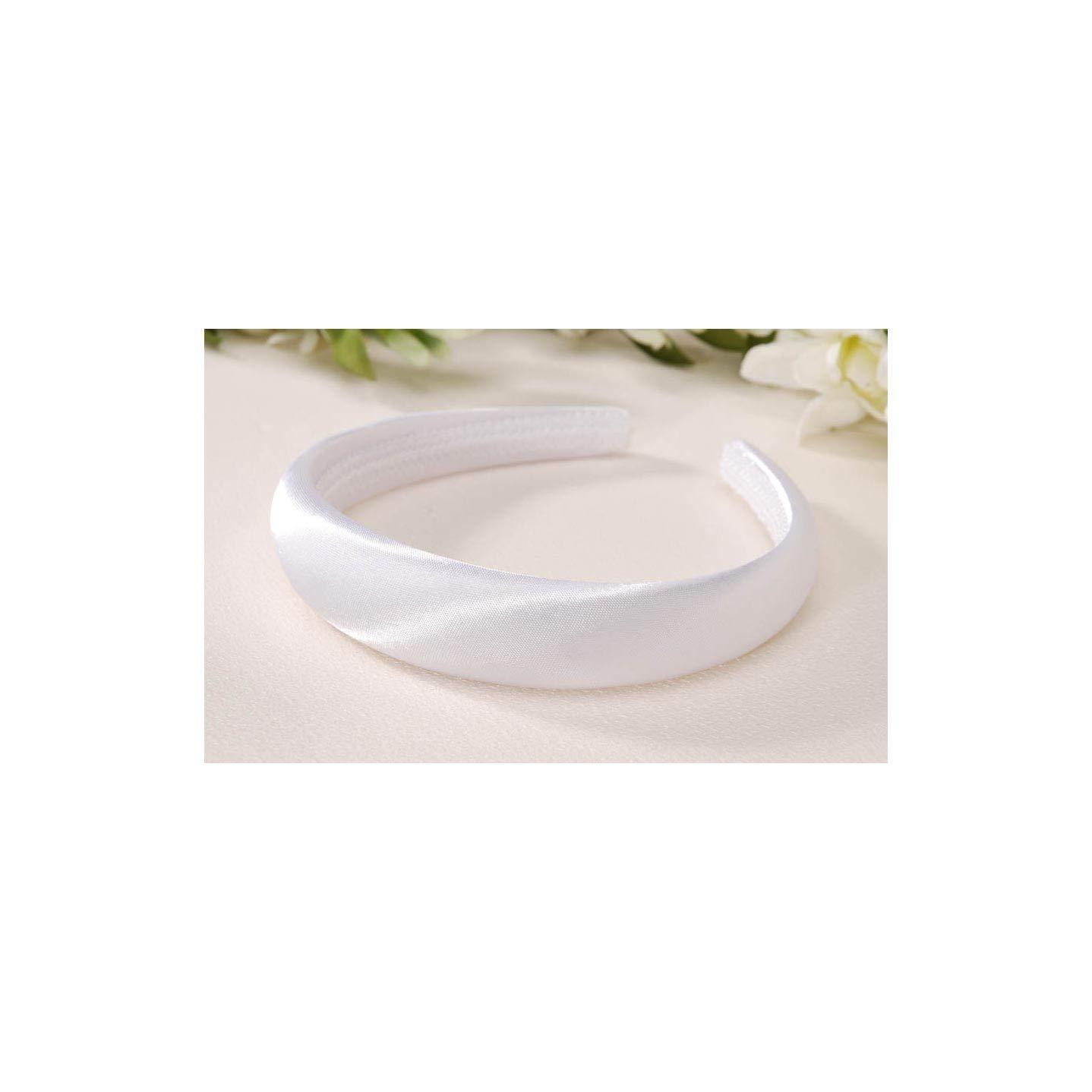 Bulk Buy : Darice DIYクラフトパッド入りサテンヘッドバンドホワイト25 mm ( Thick6パックv35565 – 01   B00KNASL4Y