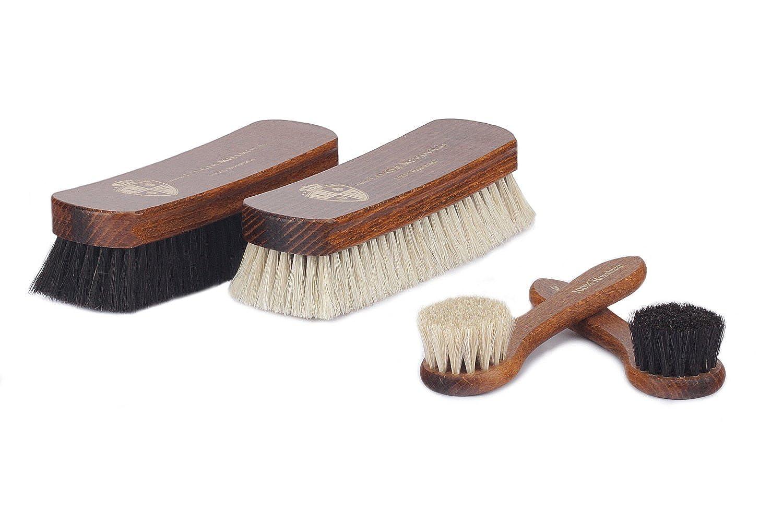 Langer /& Messmer 5er-Set Schuhbürsten aus Ross und Ziegenhaar