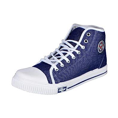 8fd0fa1729 Lancer Yuva 72 33 Navy Blue Men Canvas Sneakers 11 UK: Buy Online at ...
