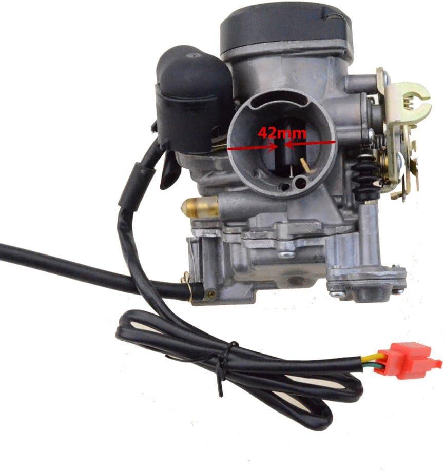Goofit Device Components 27/mm Carburateur pour GY6/200/cc 136/Moteur Scooter cyclomoteur
