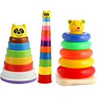 Nabhya Rings Stacking Rings Educational Pre School (Multicolor) (Combo of 3 Toys)