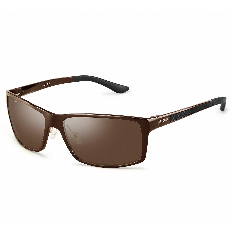 e9b4026ce7d Amazon.com  UV400 Protective Polarized Driving Sunglasses For Large Head   Clothing