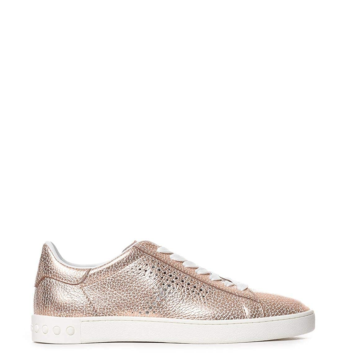 - Tod's Women's XXW12A0T490PE1M008 Pink Leather Sneakers