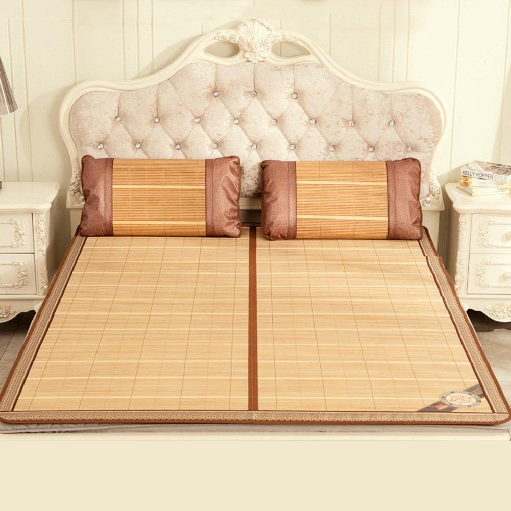 WENZHE Bambus Matratzen Sommer-Schlafmatten Strohmatte Teppiche Falten Spitze Zuhause Schlafzimmer, 1,2/1,5/1,8 M
