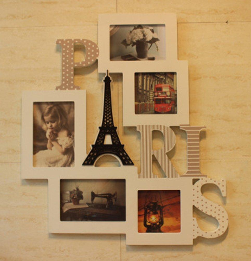 WOMAO Paris Serviette Kleiderbügel Elegante Dekoration Wohnzimmer Wohnzimmer Portrait Rahmen Rechteck Herz 3 x 4 (2 ST