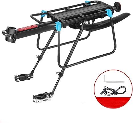 CARACHOME Carrier para Bicicleta Ajustable Aluminio Portaequipajes ...