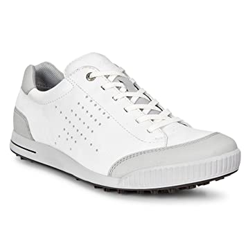 Ecco Golf Street Retro Hydromax Men S Spikeless Golf Shoes White Amazon Co Uk Sports Outdoors