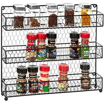 Amazon Com Mygift 3 Tier Rustic Chicken Wire Wall Mounted