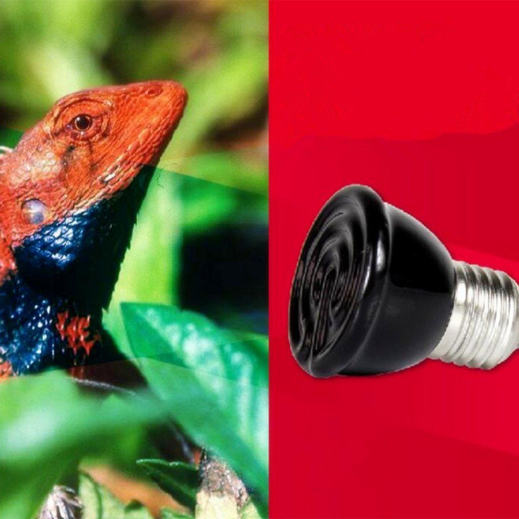 MagiDeal 2 Piezas Luz Fuentes de Reptil L/ámpara Vivarium Calentador de Infrarrojos para Mascotas Z/ócalo E27 20W