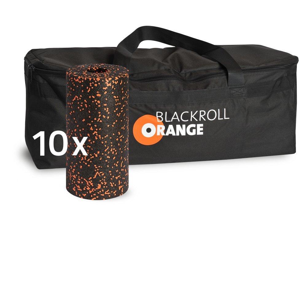 Schwarzroll-Orange Trainer BAG Sporttasche inkl. 10 Faszienrollen STANDARD