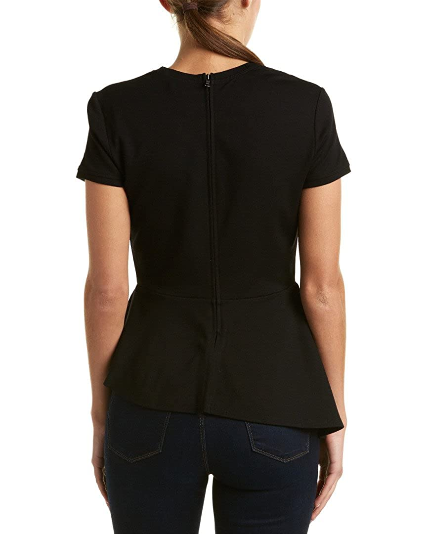 BCBGMAXAZRIA Womens Harlee Short Sleeve Top