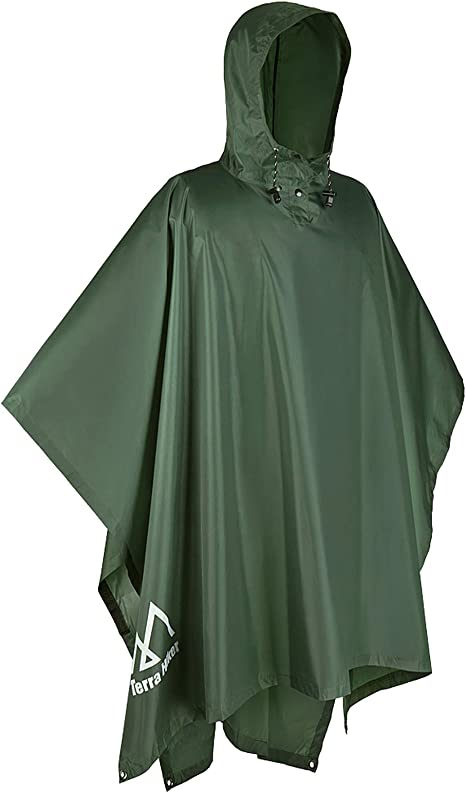 Lightweight Multi-use Reuseable Rain roats for Hiking Camping Outdoor Activities meowtastic Rain Poncho,Rain Ponchos for Adults Men Women Waterproof Hooded