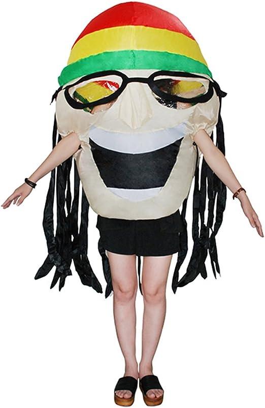 monkeyjack Funny hinchable de Rasta de Jamaica disfraz de gafas de ...