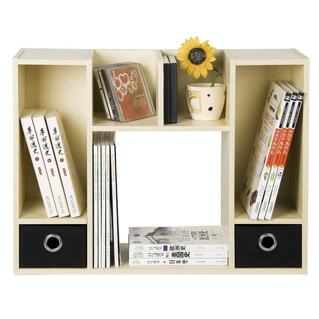 TIAN Desktop Organizer Bookshelf for Office Home Desk Organizer Bookcase Storage Rack Display Shelf by TIAN