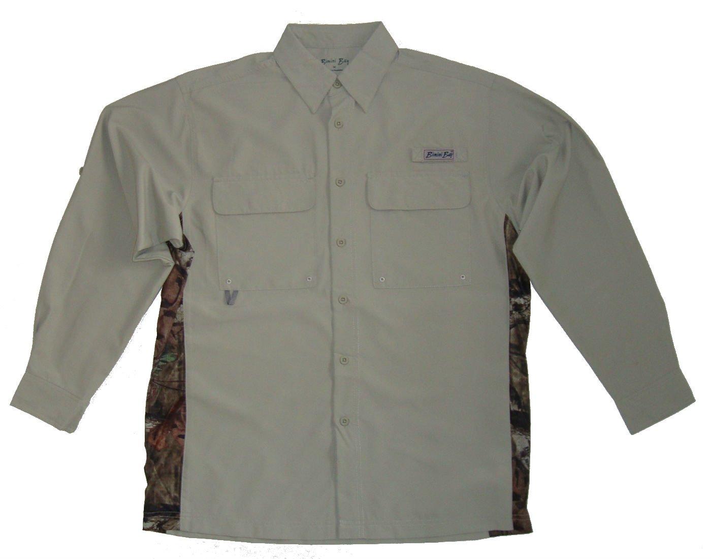 Bimini Bay Outfitters Gulf Stream w/ Camo Side Panels Long Sleeve Shirt by Bimini Bay Outfitters