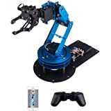 LewanSoul LeArm 6DOF Full Metal Robotic Arm Robot Arm with Servo, Controller, Wireless Handle, Free PC Software and APP, Video Tutorials for Arduino Starter