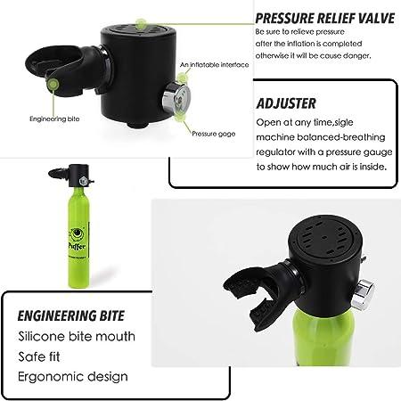 Godyluck Mini Cilindro de oxígeno portátil para Buceo subacuático ...