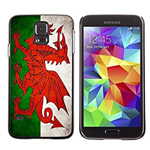 Shell-Star ( National Flag Series-Welsh ) Snap On Hard Protective Case For Samsung Galaxy S5 V SM-G900