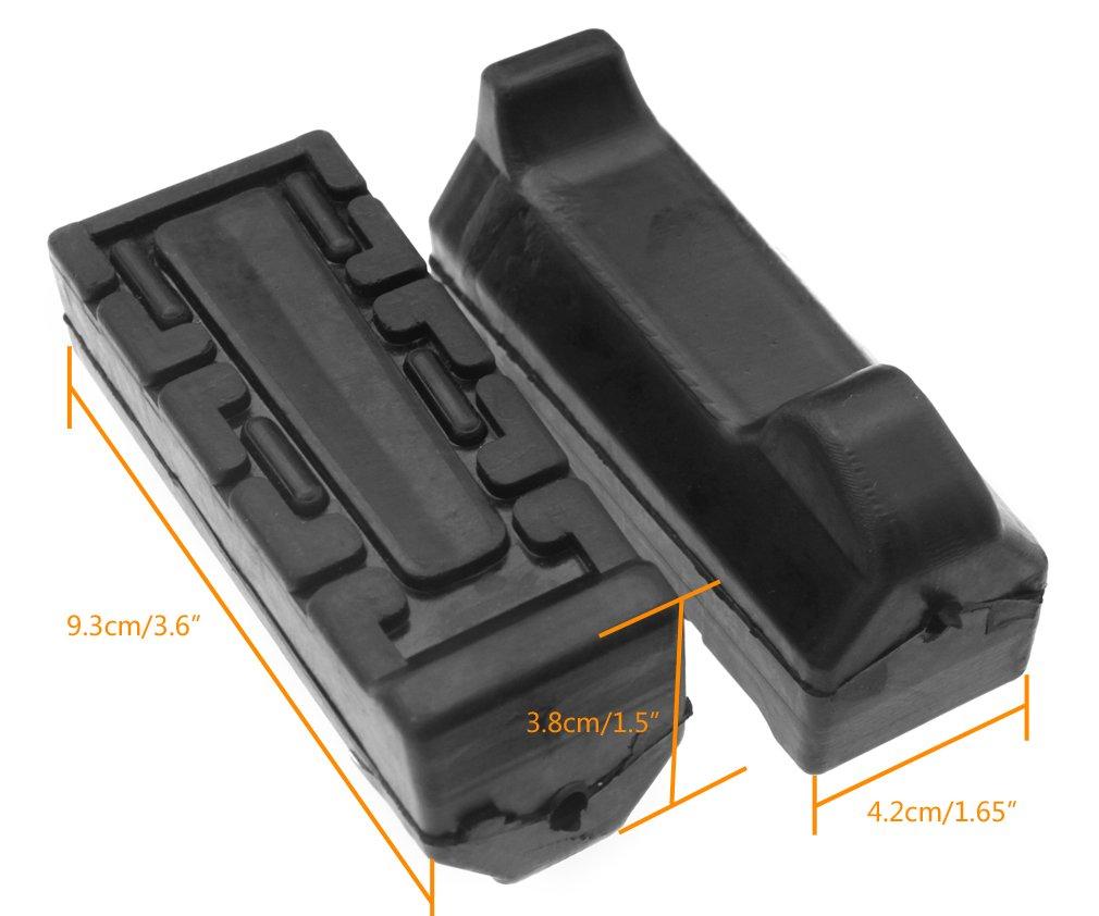 Remplacement de 2/x noir de moto Repose-pieds en caoutchouc pour Yamaha Ybr 125/tous les