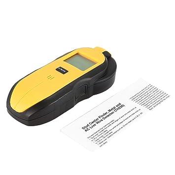 JohnJohnsen TH250 Digital Mini 3 en 1 Madera Metal Detector Live Wire AC probador del medidor portátil Tesoro Tornillo Derecho de Pared Hunter Buscador de ...