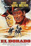 Old Tin Sign John Wayne In El Dorado Classic Vintage Movie Poster MADE IN THE USA