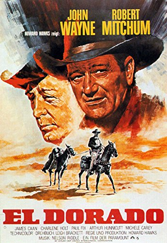 Old Tin Sign John Wayne In El Dorado Classic Vintage Movie Poster MADE IN THE USA by Gatsbe Exchange