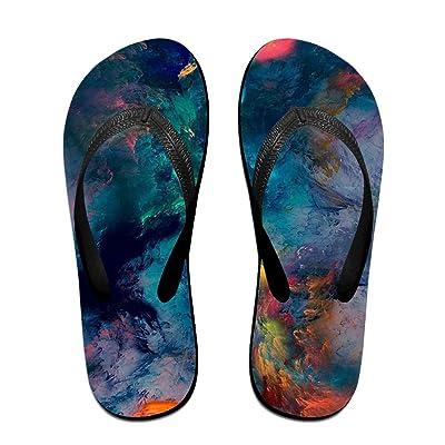 Summer Messy Color Printed Slides Sandals Flip Flops Outdoor Indoor Casual Comfy Slippers