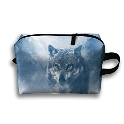 best Moon Wolf Travel Cosmetic Bags Small Makeup Clutch Pouch Cosmetic And Toiletries Organizer Bag