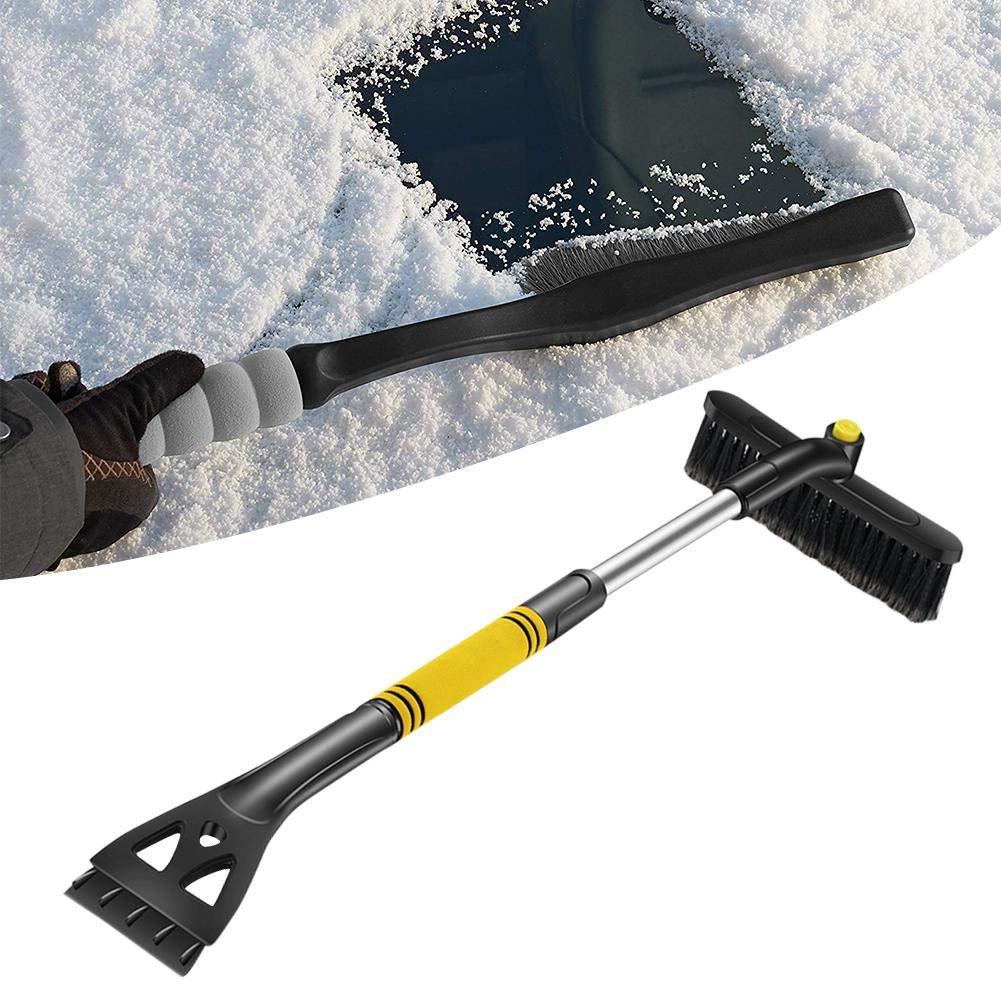 Schneeschaufel f/ür Auto popchilli Teleskop-Schneeschaufel mit langem Griff Auftauwerkzeug im Winter zum Auftauen von Schneeschaufelglas einziehbare Schneeb/ürste