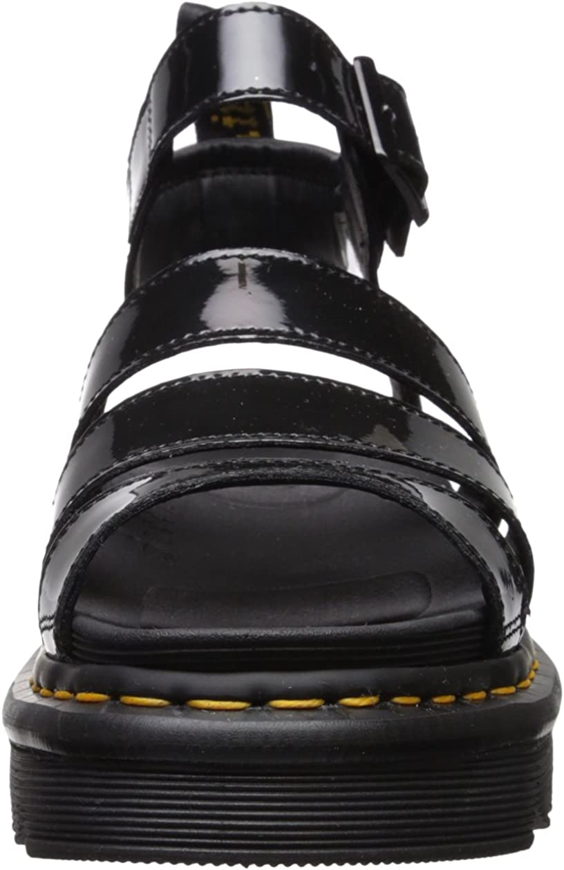 Dr Martens Womens Blaire Patent Leather Fisherman Sandal