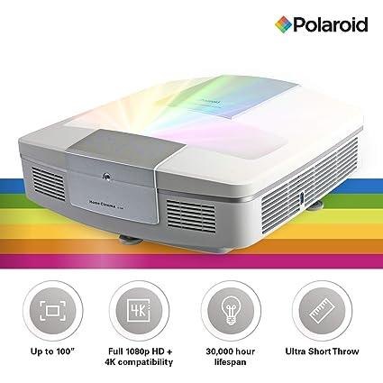 73fbe8f25e2d2b Polaroid Ultra Short Throw Projector U-100: 30,000-hour LED Light Source,