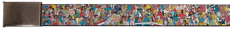 Where's Waldo Children's Book Series Crowded Artists Web Belt Buckle Down CR-1.5-WWA001